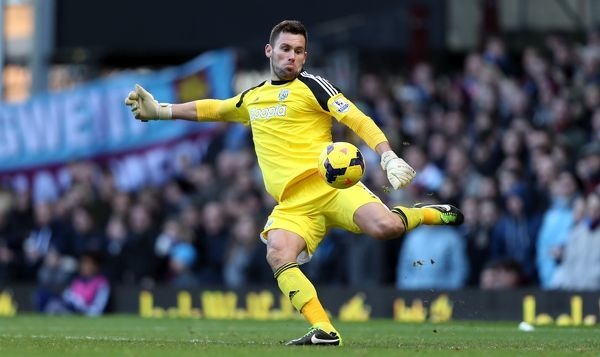 West Bromwich Albion goalkeeper Ben Foster during the Barclays Premier League match at Upton Park, London