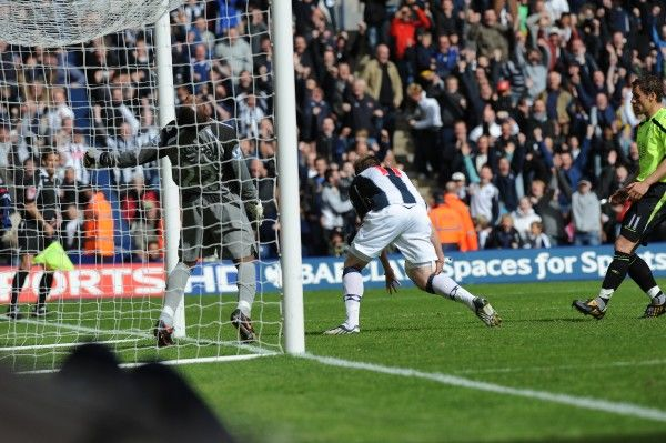 Brunt makes it two. Albion 3 Wigan Athletic 1, 9 May 2009