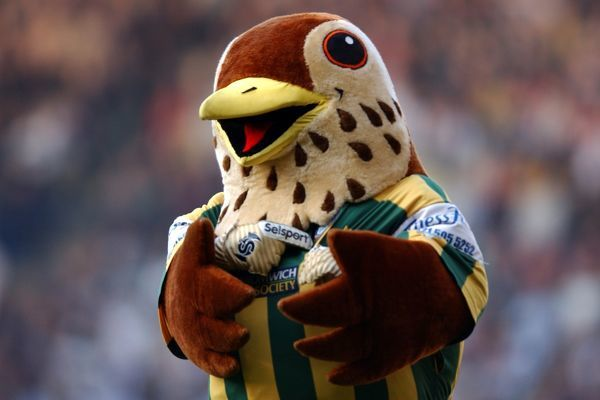 West Bromwich Albion's mascot Baggie Bird