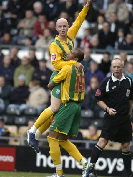 Richard Chaplow celebrates his first league goal for the club