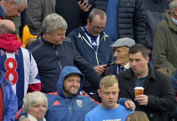 West Bromwich Albion Fan & Television presenter Adrian Chiles takes a moment to speak to West Bromwich Albion oldest fan that travels home & away, Les James who is about to turn 90