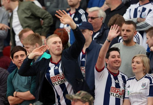 Supporters of West Bromwich Albion