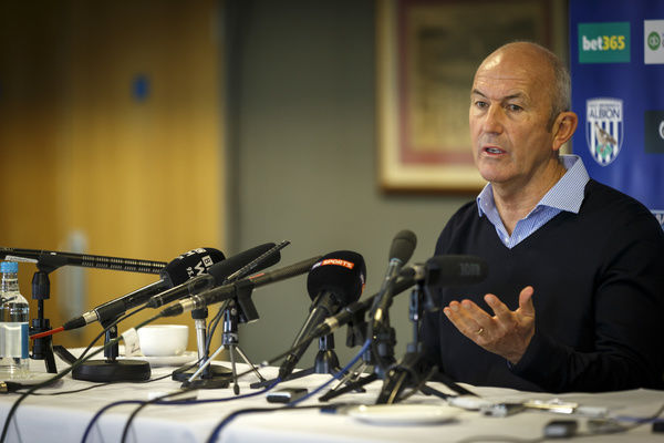 Tony Pulis the new West Bromwich Albion head coach at the press conference