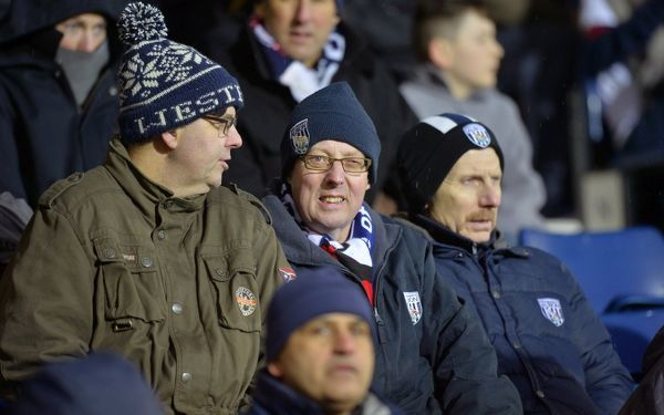 West Bromwich Albion Fans watching the match
