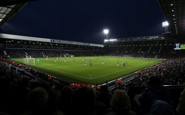 A general view of the game as West Bromwich Albion play Everton at the Hawthorns