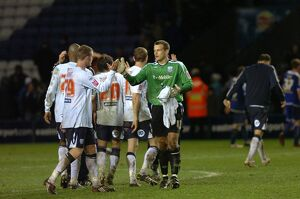 Albion celebrate after the final whistle