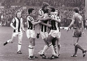 Albion celebrate Regis' goal against Forest
