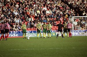 Albion defend a free-kick