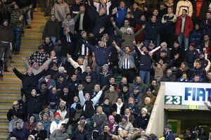 Albion fans celebrate the equaliser