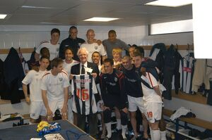 Albion make a pre-match presentation to retiring member of staff