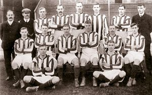 Albion team group circa 1909, including Bassett & Pennington