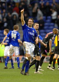 Andy Johnson salutes the fans