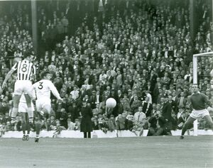 Astle heads in his first of the afternoon