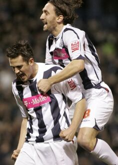 Carter and Greening celebrate Albion's opener
