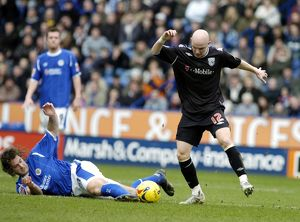 Chaplow and Johnson fight for the ball