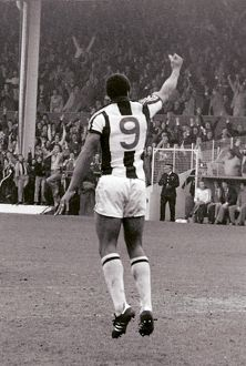 Cyrille Regis celebrates scoring against Forest