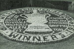 Floral tribute to the 1954 FA Cup Final winners
