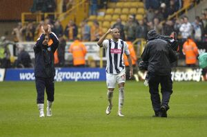 The goalscorers salute the fans