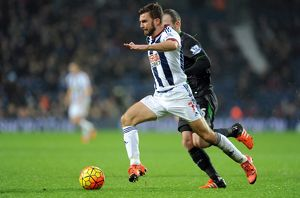 James Morrison of West Bromwich Albion and Ryan Shawcross of Stoke City