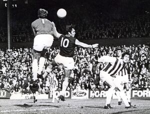 Jimmy Cumbes clears from Jimmy Greaves