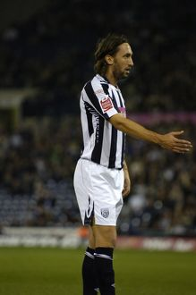 Jonathan Greening calls for the ball