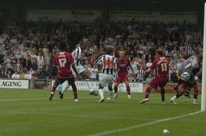 Leon Barnett nets the equaliser