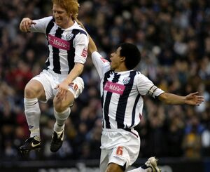 Paul McShane celebrates his first Albion goal