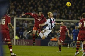 Paul McShane up for a header
