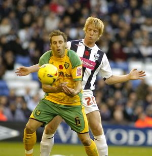 Paul McShane pays close attention to Darren Huckerby