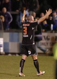 Paul Robinson celebrates with the fans