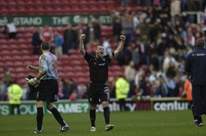 Paul Robinson celebrates the final whistle