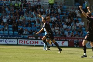 Paul Robinson celebrates his goal