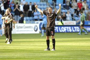 Paul Robinson celebrates three more points