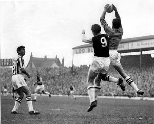 Ray Potter collects a cross